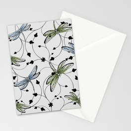 Dragonflies in the garden Stationery Cards