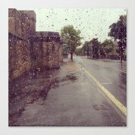 Rainy Road Photograph Print Canvas Print