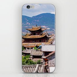 Chinese traditional tiled roofs iPhone Skin