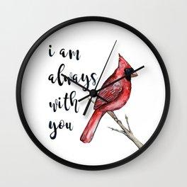 I Am Always With You, Cardinal Wall Clock