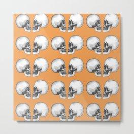 Kissing Skulls (Halloween) Metal Print