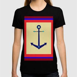 A Nautical Anchor with Boarder T-shirt