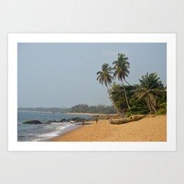 Beaches of Cameroon Art Print