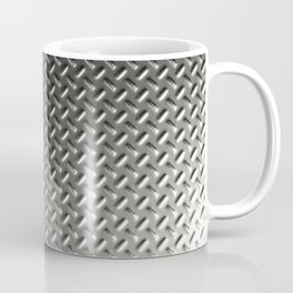 Dirty checkered steel plate Coffee Mug
