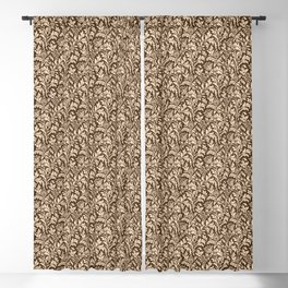 William Morris Thistle Damask, Taupe Tan and Beige Blackout Curtain