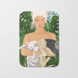 Morocco Vacay #illustration #painting Bath Mat