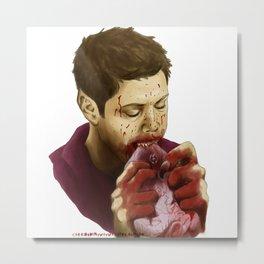 werewolf!Dean with Castiel's heart Metal Print