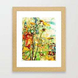 Sit In The Garden And Watch The Air Form In The Morning Sunshine Framed Art Print