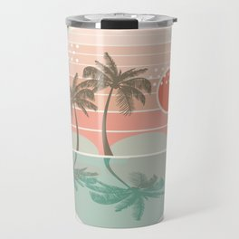 Dang - beach vibes minimal sunset sunrise ocean surfing nature palm tropical socal cali 70s style Travel Mug