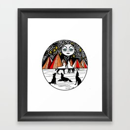 full wolf moon Framed Art Print