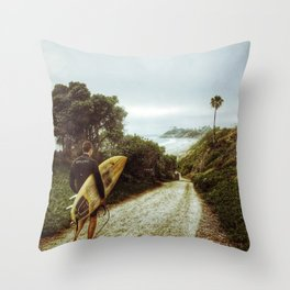Surfer Boy, Cardiff, California Throw Pillow