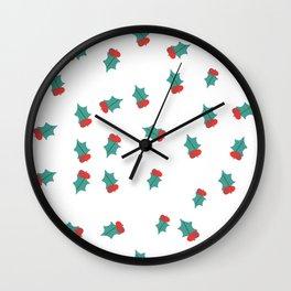 Ditsy Mistletoe Wall Clock