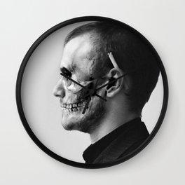 Skull Double Exposure Wall Clock