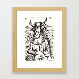 Minotaur Lisa  Framed Art Print
