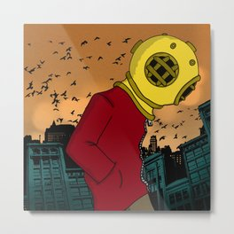 City Diving Metal Print