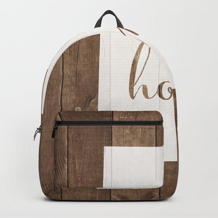 Utah is Home - White on Wood Backpack
