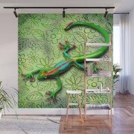 Gecko Lizard Rainbow Colors Wall Mural