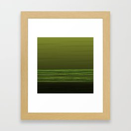 Horizon (olive green) Framed Art Print