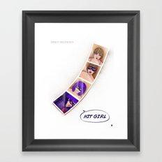 Speed Girl Framed Art Print