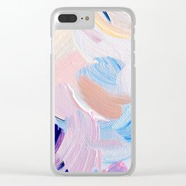 Jess Abstract Painting Clear iPhone Case