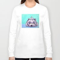 westie Long Sleeve T-shirts featuring Kashi the Westie by Maxfield and Madison