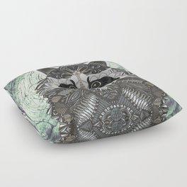 Ornate Raccoon Floor Pillow