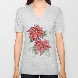 A Christmas Flower Unisex V-Neck