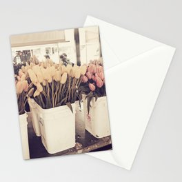 Tulip collage Stationery Cards
