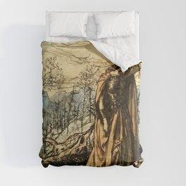 """""""Brunhilde Dazed and Alarmed"""" by Arthur Rackham Comforters"""