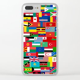 all flag Clear iPhone Case