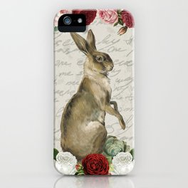 Vintage Easter Bunny iPhone Case