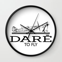 Dare To Fly Vintage Wall Clock