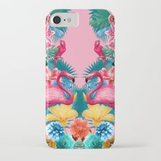 Flamingo and Tropical garden Slim Case iPhone 7