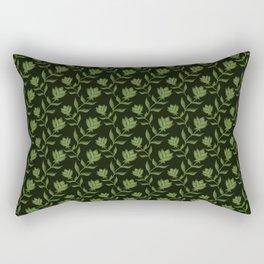 Elegant classy delicate distressed light blooming rose flowers seamless pattern design. Feminine Rectangular Pillow