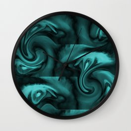 Waves in Motion Wall Clock
