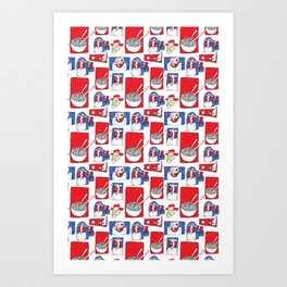 Red, White and Soup Art Print