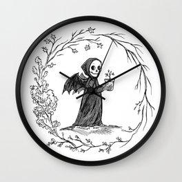 Circle of Life Grim Reaper Wall Clock