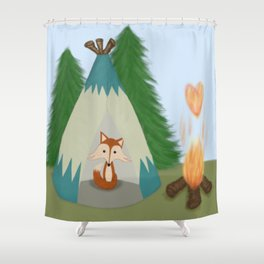The Lone Fox Shower Curtain