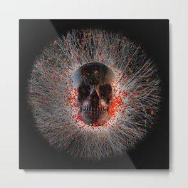 Skull Cinders Metal Print