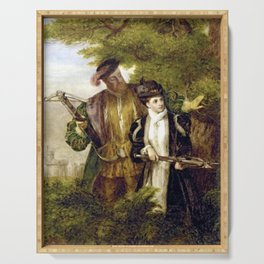 Tudor Romance - Henry VIII and Anne Boleyn hunting Serving Tray
