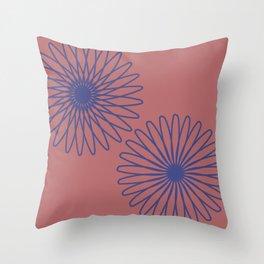 Mauve and Cobalt Throw Pillow