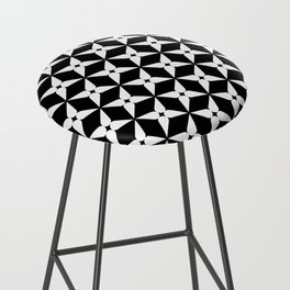 Geometric Pattern 247 (white crosses) Bar Stool