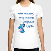 lilo and stitch T-shirts featuring Lilo & Stitch - Ohana Quote by MarcoMellark