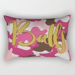 Pink Camouflage with Balls - Pink Camo Rectangular Pillow