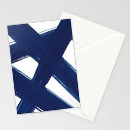 Indigo Abstract Brush Strokes | No. 3 Stationery Cards