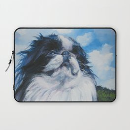 Japanese Chin dog art from an original painting by L.A.Shepard Laptop Sleeve