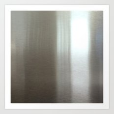 Industrial Brushed Stainless Art Print