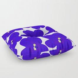 Blue Retro Flowers #decor #society6 #buyart Floor Pillow