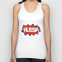 russia Tank Tops featuring Russia by mailboxdisco