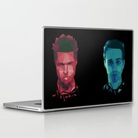 tyler durden Laptop & iPad Skins featuring Fight club - tyler by Dr.Söd
